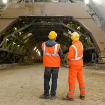 Baustelle mit dem Subunternehmen