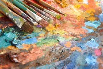 Der Maler ist Inhaber von Urheberrechten in Frankreich