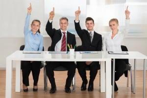 Betriebsrat und Steuerberater bei der Anhörung