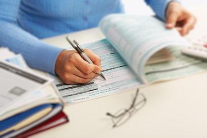 Divindede und Steuerreklärung