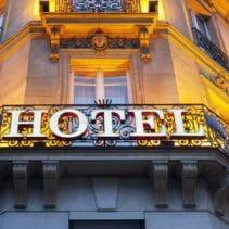 Hotel und Schließung