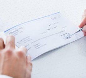 Haftung wegen Scheck
