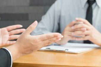 Mitarbeitergespräch mit Arbeitgeber