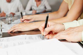 Unterscrhift einer Betriebsvereinbarung